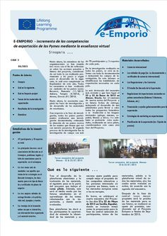 Información del Proyecto e-Emporio // e-Emporio Project Information Posted on 21/05/2015 by Caridad Mtnez. Carrillo de Albornoz