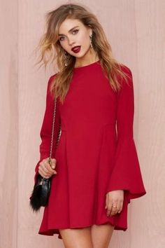 Bell Raiser Crepe Dress | Shop Valentine's Day Shop at Nasty Gal by luella