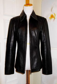 WOMEN'S OAKWOOD BLACK  LEATER JACKET EXCELLENT CONDITION SMALL