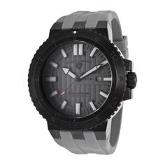 Swiss Legend Men's Challenger Gray Dial Gray Silicone