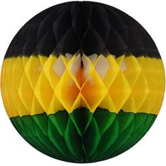 Jamaican Themed Honeycomb Tissue Paper Ball by Devra Party (http://www.devra-party.com/honeycomb-balls/honeycomb-balls-mixed-colors/jamaican-tissue-paper-ball-12-pcs)
