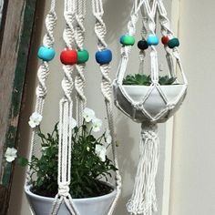 Macrame Planters - I'm obsessed with spiral knotting