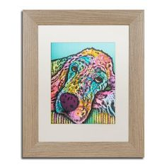 "Trademark Art 'Sadie-005' Framed Graphic Art Print Size: 14"" H x 11"" W x 0.5"" D, Mat Color: White"