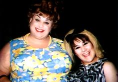 Divine and Ricki Lake (as Edna and Tracy Turnblad) on the set of John Waters' Hairspray, summer 1987