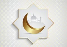 Decorative background for ramadan kareem with mosque and crescent moon , Eid Mubarak Banner, Eid Mubarak Background, Ramadan Background, Festival Background, Cherry Blossom Background, Pink And White Background, Pink Mosque, Eid Card Designs, Golden Pattern