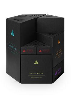 Jack Black Packaging System by Kate Carmack, via Behance. Black is back #packaging PD