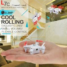 L7C 2.4G 4CH 6-Axis Gyro RC Mini Quadcopter 0.3MP Camera UFO Drone with 3D Flips