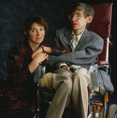 British physicist Professor Stephen Hawking with his first wife Jane Hawking in 1990. Photo: David Montgomery/Getty Images