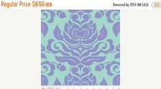 Spring Sale Damask in Purple in Extravaganza by ThreeDollsFabrics