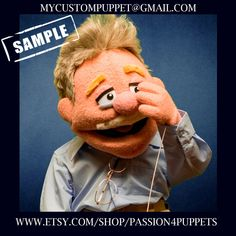 """Custom Professional """" muppet type puppet """"  Your Design or Ours! Portrait puppets personalized puppets Professional Puppets, Types Of Puppets, Custom Puppets, Puppet Making, Can Design, Scene Photo, Portrait, Are You The One, Handmade"""