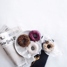 Skip the fancy breakfast in bed, just give me donuts.