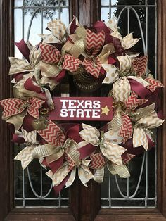 Your place to buy and sell all things handmade Texas State Bobcats, Texas State University, Diy Wreath, Burlap Wreath, Fall Decor, Holiday Decor, School Spirit, Summer Crafts, College Life