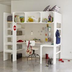 mommo design: LOFT BEDS WITH DESK                                                                                                                                                                                 Más