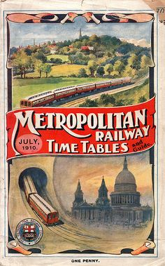 London Metropolitan Railway Timetable, July 1910
