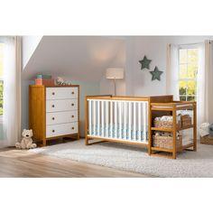 "Delta Gramercy Convertible 4 in 1 Crib & Changer in Honey/White @ Babies ""R"" Us"