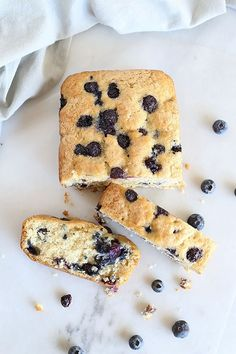 Soft, moist, and sweet! This Amazing Vegan Blueberry Loaf Bread is the BEST sweet treat. Just like a muffin but in the form of a loaf bread. Vegan. / TwoRaspberries.com