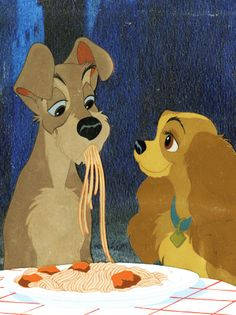 'Lady and the Tramp' Spaghetti Sequence ( <3 )