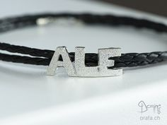 Men's leather and silver bracelet Men's Leather, Bracelets, Silver, Handmade, Jewelry, Hand Made, Jewlery, Money, Bijoux