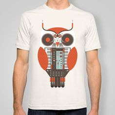 Owl is a DJ t-shirt by Tony Bamber - $22
