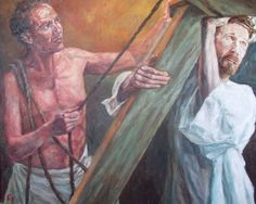 Rob Floyd Fine Art - Stations of the Cross, Christ Accepts The Cross (Second Station)105cm x 129cm