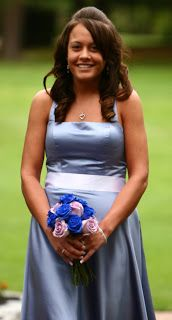 The proper way to hold a bouquet!!!  I don't know why but it really irks me when people hold it wrong...