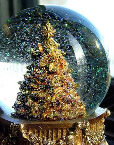 What would Christmas be like without a beautiful entrancing snow globe? #Christmas #Nostalgia