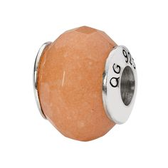Sterling Silver Reflections Peach Quartz Stone Bead ** Click image for more details. (This is an affiliate link) #CharmsandCharmbracelets