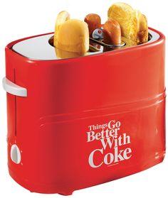 Nostalgia Electrics Coca Cola Series HDT600COKE Pop-Up Hot Dog Toaster