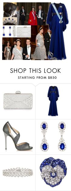 """""""Attending the first official dinner of the year with her family"""" by deborawinter ❤ liked on Polyvore featuring Judith Leiber, Andrew Gn, Jimmy Choo, Gregg Ruth, Oscar Heyman, women's clothing, women, female, woman and misses"""