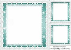 Turq starlight with lace frames insert and toppers 8x8 on Craftsuprint - Add To Basket!