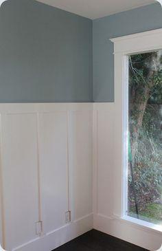 Blue gray wall color...Benjamin Moore Nimbus Gray