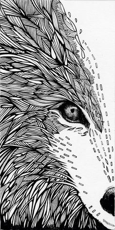 wolf like me by Clare Corfield Carr #texture #woodcut #lines
