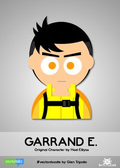 GARRAND ENTRENCHORD, original character by Hael Elliyas. #VectorDoodle by Glen Tripollo