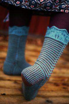 Laurelhurst Socks Knitting Socks, Baby Knitting, Knit Socks, Knitting Projects, Knitting Patterns, Little Cotton Rabbits, Leg Warmers, Knit Crochet, Slippers