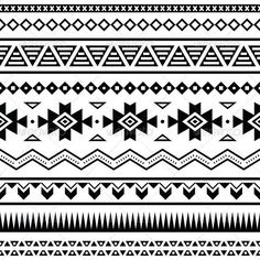 Aztec design for arm
