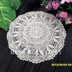 Free shipping crochet lace table cloth cover overlay for home decoration wedding table cloth cutout tablecloths white beige -inTable Cloth f...