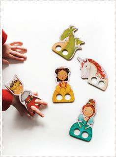 Finger Puppets Princess : finger puppets for kids : Stubby Pencil Studio Diy For Kids, Crafts For Kids, Diy Crafts, Ideias Diy, Finger Puppets, Paper Toys, Diy Toys, Craft Activities, Kids Playing