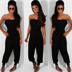 Pink Boutique Magic black stretch #jersey #jumpsuit http://www.pinkboutique.co.uk/new-in/magic-black-stretch-jersey-jumpsuit.html #pinkboutique