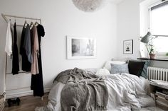 my scandinavian home: A white Swedish home with warm, natural touches