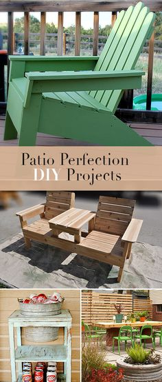 Patio Perfection : DIY Projects • Lot's of tutorial and projects for you to try for your backyard and garden!