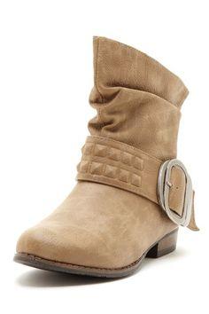 Tan Buckle Boot