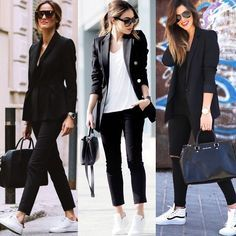 15 Great inspiration casual outfit for business woman who is simple and cool - outfits Casual Work Outfits, Business Casual Outfits, Office Outfits, Mode Outfits, Work Casual, Chic Outfits, Fall Outfits, Fashion Outfits, Business Casual Sneakers