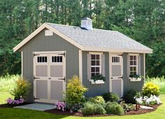 This charming Riverside Shed Kit is handcrafted by the Amish, and perfect for your backyard! It's available in a variety of sizes and options.