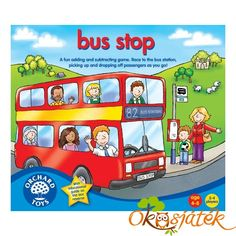 Buy Orchard Toys: Bus Stop Game at Mighty Ape Australia. A fun addition and subtraction game. Take a counter and throw the two dice to move round the board counting passengers on and off your big bright bus. Fun Learning Games, Educational Games, Math Games, Maths, Subtraction Games, Addition And Subtraction, Board Games For Two, Games For Kids, Game Boards