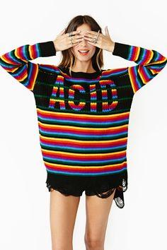 Acid Stripe Knit - I hope Trash and Vaudeville decides to stock this lol