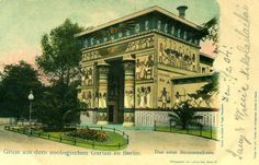 "Zoologischer Garten ""Das neue Straussenhaus"", Berlin - 1904 Historical Photos, Mansions, House Styles, City, Creative, Berlin Today, Zoological Garden, Postcards, Historical Pictures"