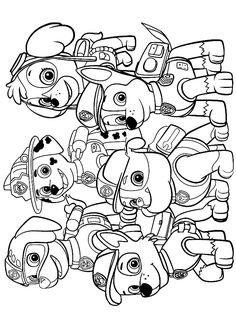 Coloring pages for kids - BOJANKE - coloring sheets - coloring books - páginas . - Coloring pages for kids – BOJANKE – coloring sheets – coloring books – páginas para colorea - Coloring Sheets For Kids, Cute Coloring Pages, Cartoon Coloring Pages, Animal Coloring Pages, Coloring Books, Kids Colouring, Colouring Sheets, Paw Patrol Party, Paw Patrol Birthday