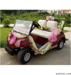 Wedding Car Decorated with new Ideas.