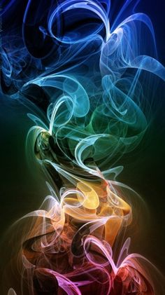 Smoke mobile phone wallpaper.