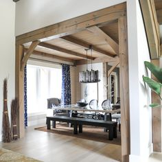 A rustic meets modern family home in British Columbia Home Living Room, Living Room Decor, Dining Room, Family Room, Home And Family, Modern Family, Great Rooms, Home Projects, Home Remodeling